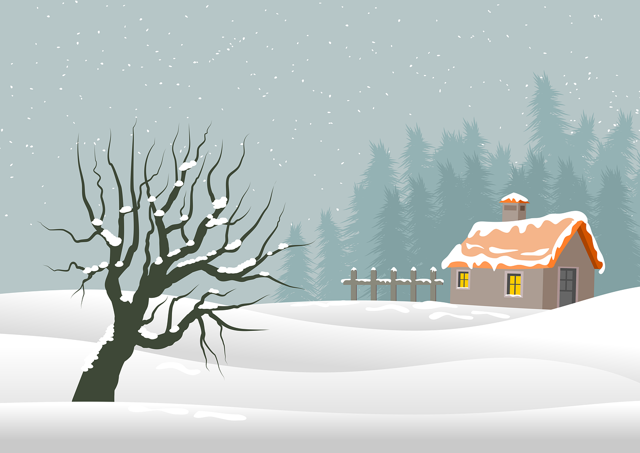 illustration, christmas, background