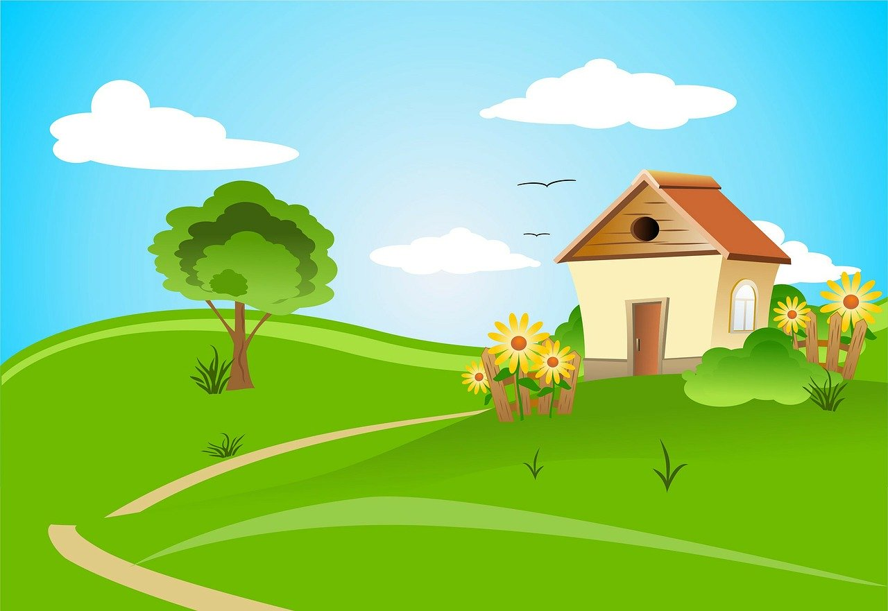 house, countryside, architecture